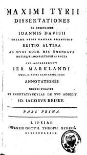 Maximi Tyrii Dissertationes: Volume 2