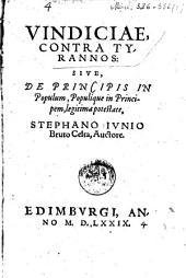 Vindiciae contra tyrannos: sive, de principis in populum, populique in principem, legitima potestate