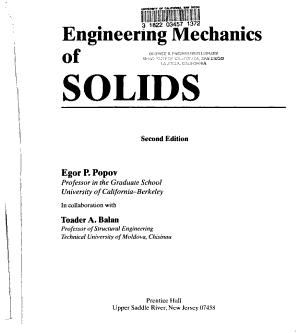 Engineering Mechanics of Solids PDF