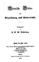 Rheinische Bl  tter f  r Erziehung und Unterricht PDF