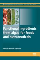 Functional Ingredients from Algae for Foods and Nutraceuticals PDF