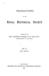 Transactions of the Royal Historical Society: Volume 2
