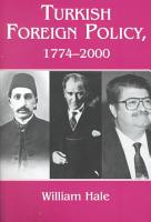 Turkish Foreign Policy  1774 2000 PDF