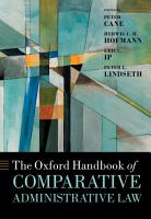 The Oxford Handbook of Comparative Administrative Law PDF