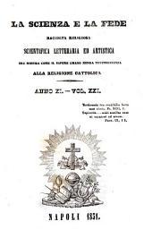La Scienza e la fede: Volumi 21-22