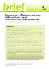 Securing tenure rights to communal forests in Masindi district, Uganda: Lessons from Participatory Prospective Analysis (PPA)