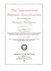 The International Business Encyclopedia: The Up-to-date, Down-to-the Minute Business Dictionary