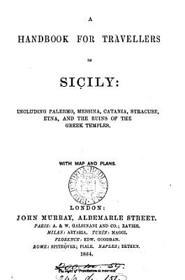 A handbook for travellers in Sicily  by G  Dennis   PDF