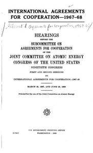 International Agreements for Cooperation  1967 68 PDF