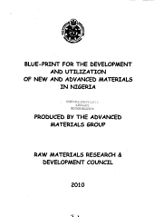 Blue-print for the Development and Utilization of New and Advanced Materials in Nigeria