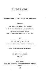 Eldorado, Or Adventures in the Path of Empire