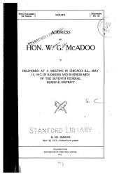 Address by Hon. W.G. McAdoo, Delivered at a Meeting in Chicago, Ill., May 17, 1917, of Bankers and Business Men of the Seventh Federal Reserve District