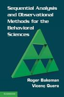 Sequential Analysis and Observational Methods for the Behavioral Sciences PDF