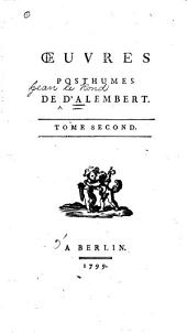 Oeuvres posthumes de d'Alembert: Volume 1
