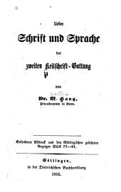 Ueber Schrift und Sprache der zweiten Keilschrift-Gattung