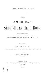 The American Short horn Herd Book     PDF