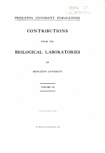 Contributions from the biological laboratories in Princeton University