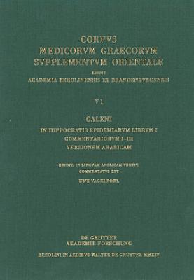 Galeni In Hippocratis Epidemiarum librum I commentariorum I III versio Arabica PDF