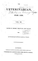 The Veterinarian  a Monthly Journal of Veterinary Science for 1828 1902 PDF