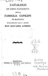 Catalogo de' codici manoscritti della famiglia Capilupi di Mantova