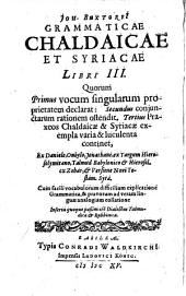 Joh. Buxtorfi Epitome grammaticae Hebraeae