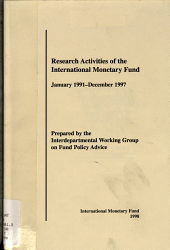 Research Activities of the International Monetary Fund  January 1991   December 1997 PDF