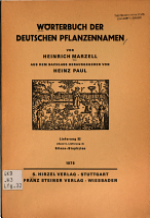 Worterbuch der deutschen Pflanzennamen PDF