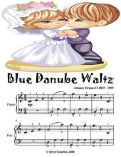 Blue Danube Waltz - Easy Piano Sheet Music Junior Edition