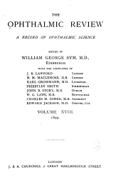 The Ophthalmic Review: Volume 18