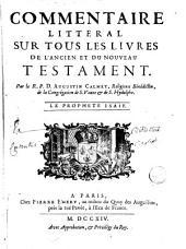 Commentaire littéral sur tous les livres de l'Ancien et du Nouveau Testament: Volume12