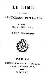 Le rime di Francesco Petrarca: Volume 2