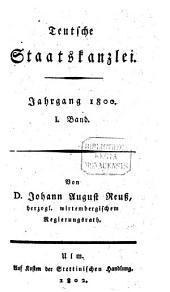 Teutsche Staatskanzlei: Band 1