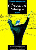 The Gramophone Classical Catalogue 1996 PDF