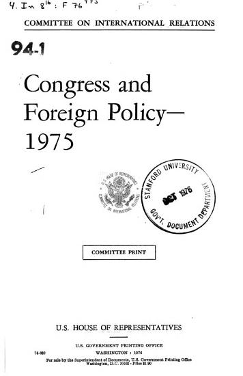 Congress and Foreign Policy  1975 PDF