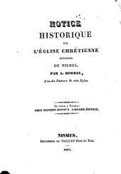 Notice hist. sur l'Egl. réf. de Nismes