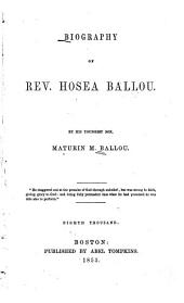 Biography of Rev. Hosea Ballou