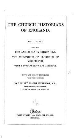 The Church Historians of England PDF