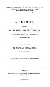 The Lord s Sheep Secure in the Midst of Wolves     A Sermon  Preached at Burton Street Chapel  on the Anniversary of Its Opening  November 18  1838  Etc PDF