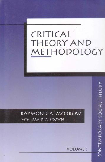 Critical Theory and Methodology PDF