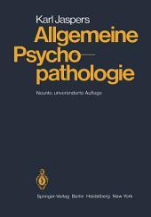 Allgemeine Psychopathologie: Ausgabe 8