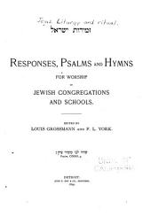 Responses, psalms and hymns: for worship in Jewish congregations and schools