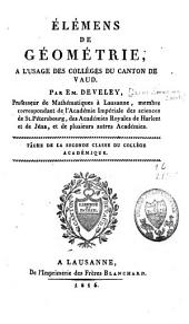 Elemens de géométrie à l'usage des collèges du canton de Vaud