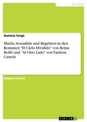 """Macht, Sexualität und Begehren in den Romanen """"El Cielo Dividido"""" von Reina Roffé und """"Al Otro Lado"""" von Yanitzia Canetti"""