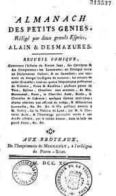 Almanach des petits génies, rédigé par deux grands esprits, Alain et Desmajures