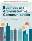ISE Business and Administrative Communication Book