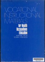 Vocational Instructional Materials for Health Occupations Education Available from Federal Agencies PDF