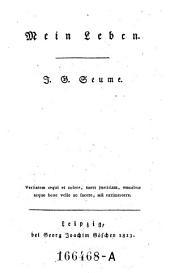 Mein Leben (fortgesetzt von. Christian August Heinrich Clodius.)- Leipzig, Göschen 1813