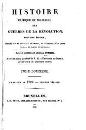 Histoire critique et militaire des guerres de la Révolution: Volume12