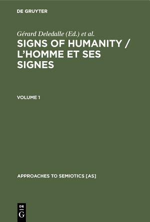 Signs of Humanity   L   homme et ses signes PDF