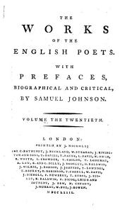 The Works of the English Poets: With Prefaces, Biographical and Critical, Volume 20